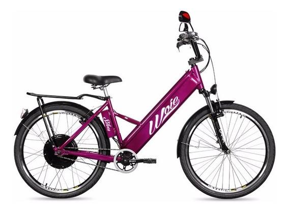 Bicicleta Elétrica Motorizada Woie Silver 48v 350w - Violeta