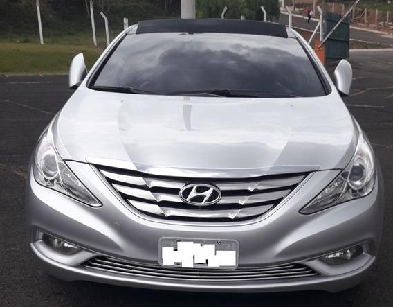 Hyundai Sonata Impecável Com Multimídia E Interior Vermelho