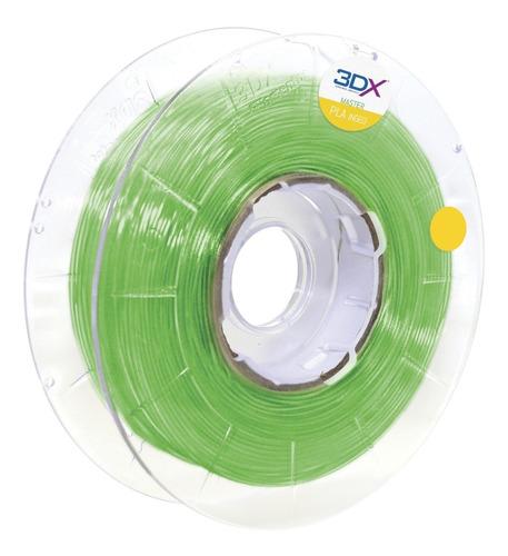 Imagem 1 de 5 de Filamento Pla Ht Verde Translucido 1,75 Mm | 500g 3dx