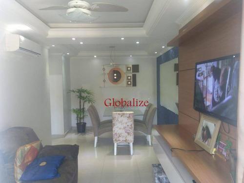 Imagem 1 de 14 de Apartamento Com 2 Dormitórios À Venda, 58 M² Por R$ 245.000,00 - Morro De Nova Cintra - Santos/sp - Ap0094