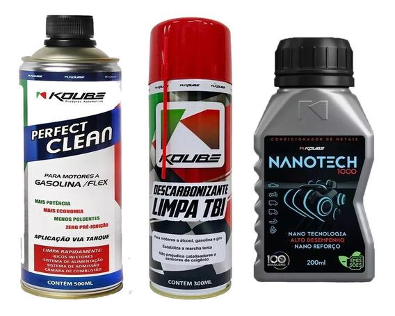 Kit C/ 1 Perfect Clean + 1 Limpa Tbi Koube + 1 Nanotech 1000