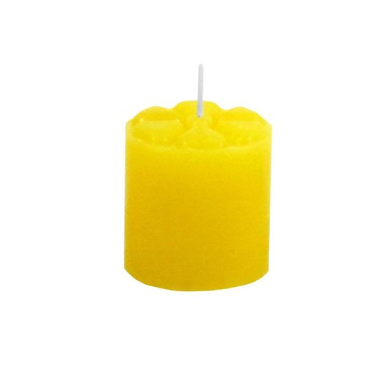 Vela Noturna 12 Unidades Amarelo 5x5 Cm Decoração Festa Casa