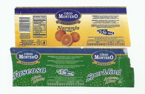 Rótulo Antigo Refrigerante Montero - Cuba -  Ab2