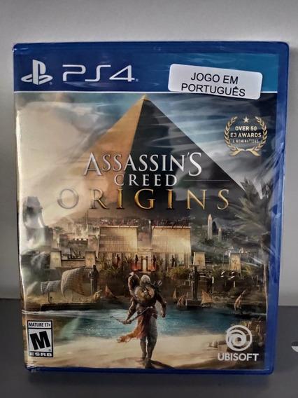 Assassins Creed Origins Ps4 Midia Fisica Novo Em Português