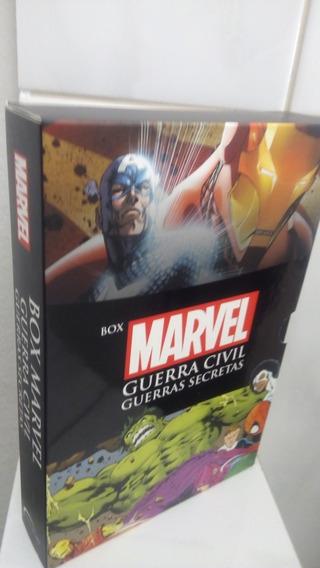 Box Marvel Guerra Civil: Guerras Secretas Livro