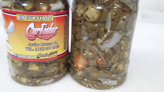 Chiles Jalapeños En Vinagre Curtidor Venta 8kg. Peso Neto