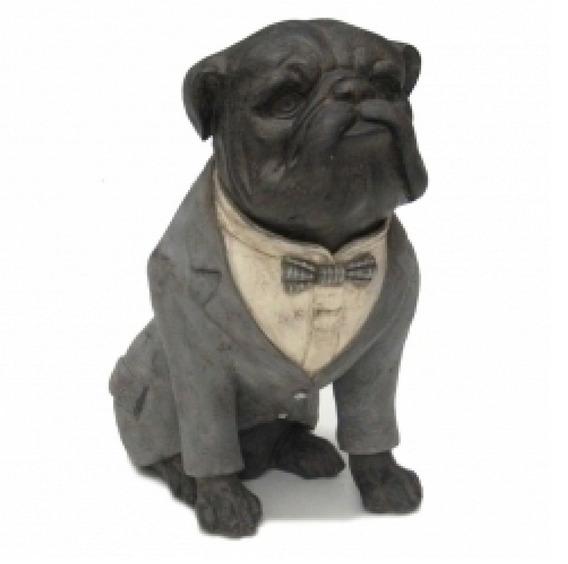 Escultura Bulldog De Terno