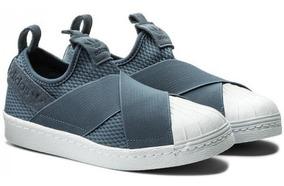 Tenis adidas Superstar Slipon Azul Acero Dama As Original