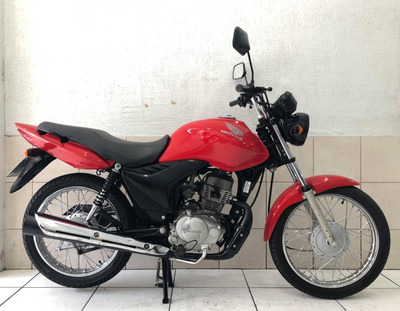 Honda Fan Es 125 Ano 2013 Cor Vermelha