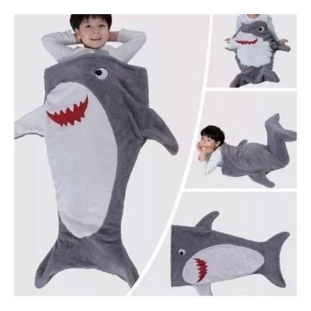 Manta Cobertor Infantil Saco De Dormir Buettner - Tubarão