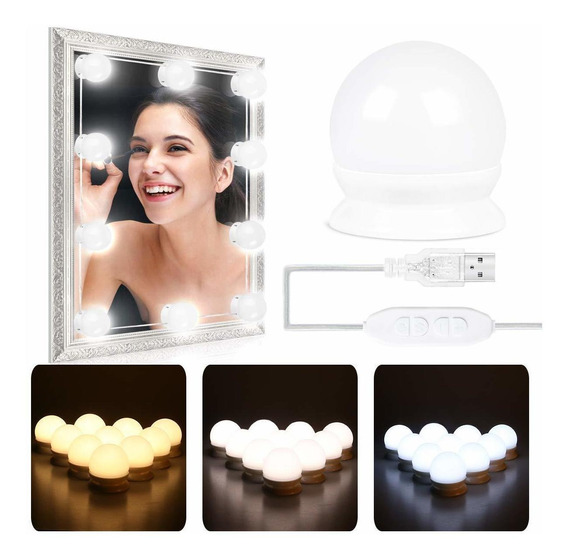 Luces Para Espejo De Maquillaje Autowt Kit De 10