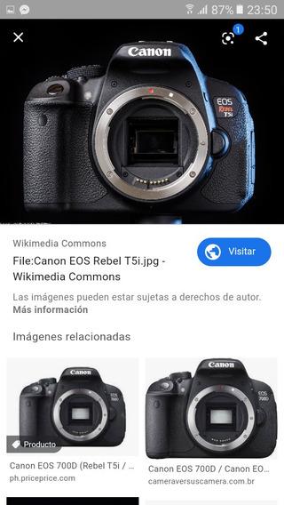 Cámara Canon Rebel T5i (cuerpo) Mas Memoria 64g Y Estuche