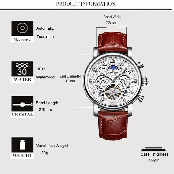 Relógios Automático Kinyued De Luxo Top Original