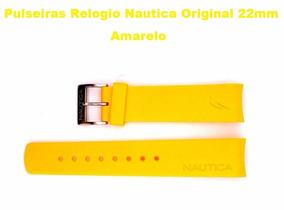 Pulseiras Relogio Nautica Original 22mm Na Cor Amarela Nova