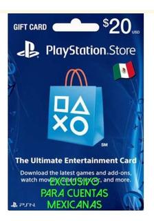 Tarjeta Playstation Network 20 Usd Región México - Fortnite