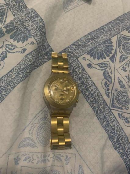 Relógio Swatch Full-blooded Dourado Usado