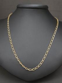 Cordão Ouro Amarelo 18k Estilo Cartier Masculino Oferta