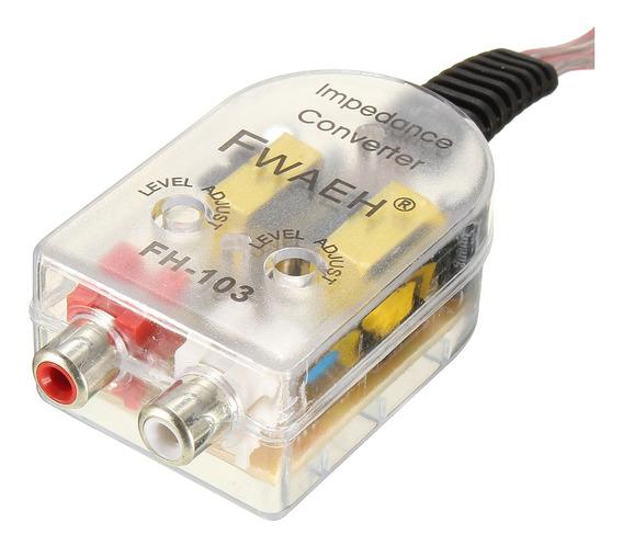 Convertidor Señal Altavoces Radio Coche-Previo RCA Conversor Alta-Baja CarAudio