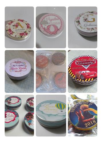 20 Latitas Personalizada Souvenirs Sticker Superior Y Latera