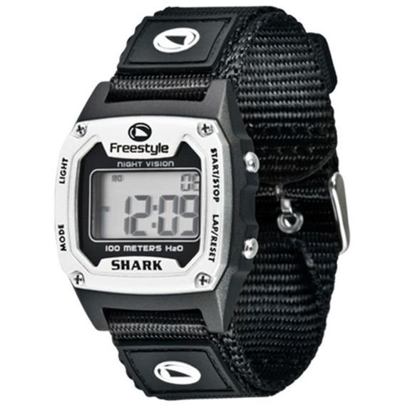 Relógio Freestyle Shark Classic Prata/preto Nylon Importado