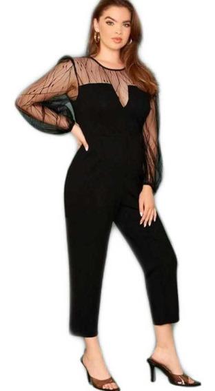 Palazzo Mono Jumpsuit Elegante Negro Xl Envío Gratis Fiesta