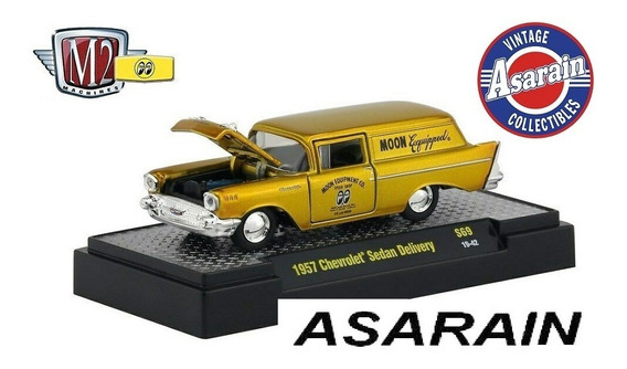 M2 Mooneyes Gold 1957 Chevrolet Wagon Delivery Moon - 1/64