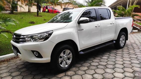 Toyota Hilux Srv 2016/2017 Branca Único Dono
