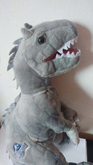 Peluche Jurassic World T Rex Tiranosaurio Dinosaurio Gris