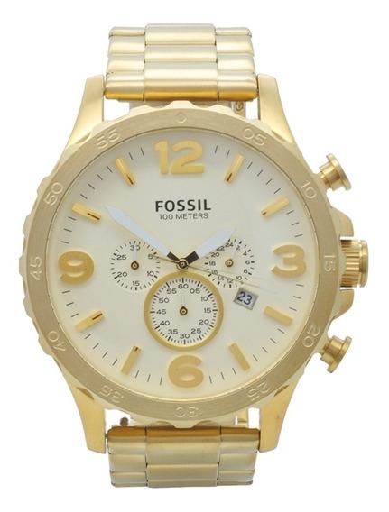 Relógio De Pulso Fossil Masculino Jr1479/4xn - Dourado