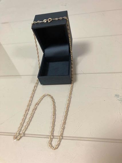 Corrente/cordão Ouro 18k/750 Elos Cadeado 8,1grs 60cms