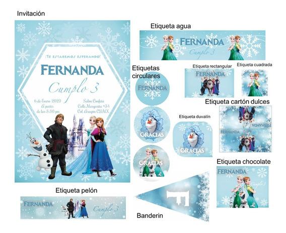 Kit Imprimible Editable C/la Imagen Que Quieras Frozen