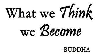 Lo Que Creemos Become Buda Calcomanía Decorativo Para Pared