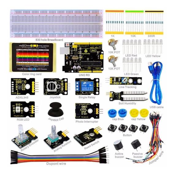 Arduino Uno R3 Board Starter Kit De Sensor K4+19projetos