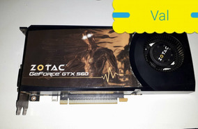Placa De Video Zotac Gtx560 1gb 256bit Ddr5 Usada.