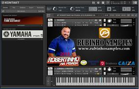 Kit Kontakt Robertinho Na Pisada 2018 Com Ritmo Yamaha 4v