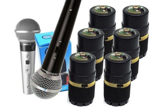 Kit 6 Cápsulas Para Microfone Le Son Sm58- Melhor Qualidade!
