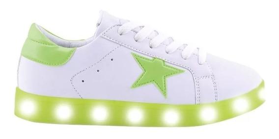 Zapatillas Footy Con Luz Led Usb Estrella Flúo Fty Calzados