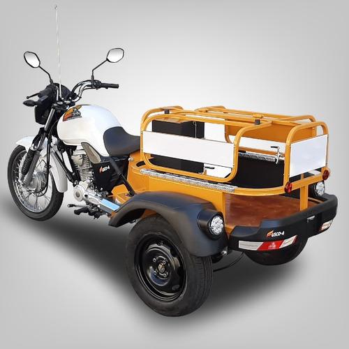 Triciclo De Carga Fusco Gás4 - Faz 30km/l - Transporta 300kg
