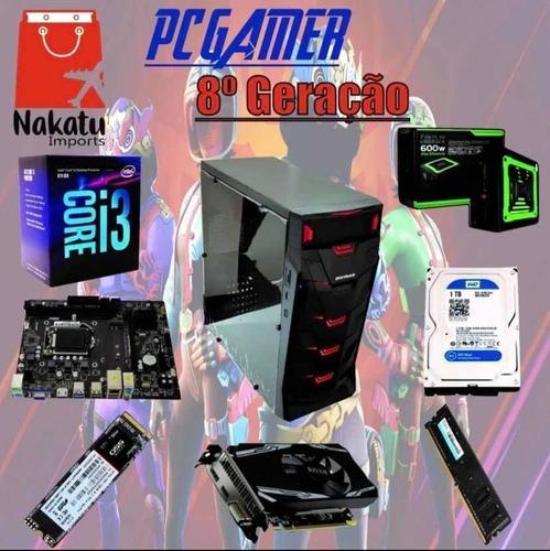 Imagem 1 de 1 de Pc Gamer 8a Geração + I3 8100 + H310 +nvme 128gb+ Rx 550 4