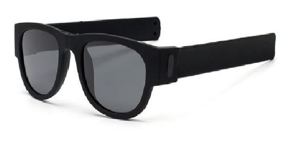 Óculos Sol Dobrável Esporte Bike Proteção Pulso Polarizado Praia Surf Estilo Wayfarer Estiloso Articulado Verão Corrida