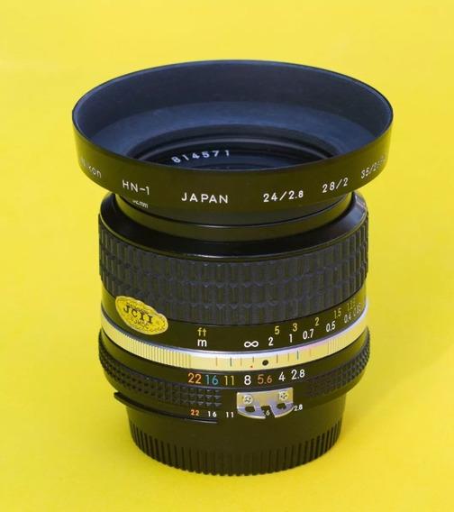 Lente Nikon Nikkor 24 2.8 Ais. Muito Nova.