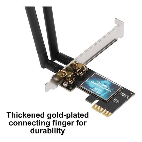 Placa Adaptador De Rede Wifi Pci-e Edup 300mbps + Bt 4