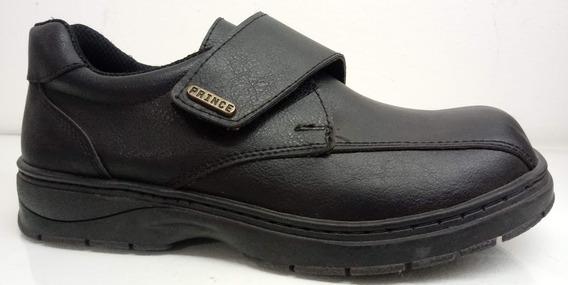 Zapatos Escolares Económicos Ecocuero Abrojo Prince