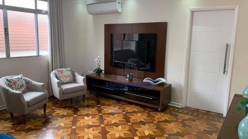 Imagem 1 de 30 de Apartamento Com 3 Dormitórios À Venda, 118 M² Por R$ 450.000,00 - Embaré - Santos/sp - Ap6442