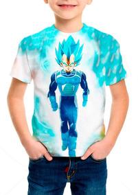 Camiseta Infantil Anime Dragon Ball Super Vegeta M01