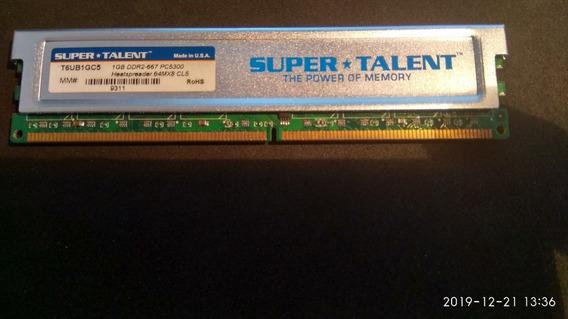 Memoria Ddr2 1gb 667 Mhz Super Talent - Made In Usa