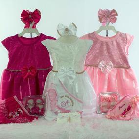 Roupas Para Bebe Vestidinho Kit 4 Peças
