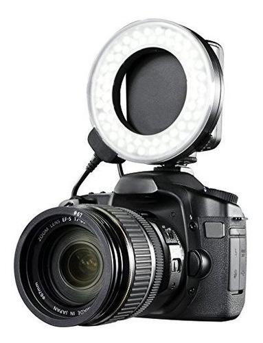 Canon Eos M6 Dual Macro Anillo De Luz Ledflash Aplicable Pa