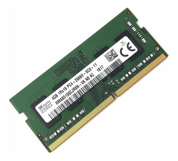Memoria Ram 4gb Sk Hynix Hma851s6cjr6n - Vk Non Ecc Pc4-2666v Ddr4 At 2666mhz 260pin Sdram Sodimm Single Kit - Oe