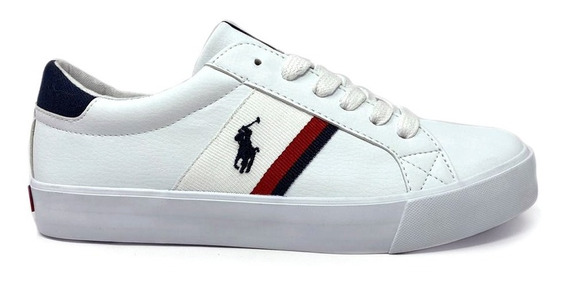 Tenis Polo Ralph Lauren Unisex Color Blanco Estampado